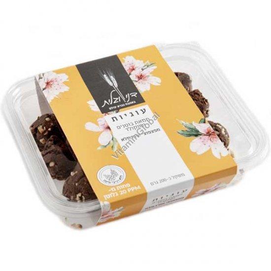 עוגיות ללא גלוטן חמאת בוטנים ושוקולד מפצפוצי אורז מלא 200 גרם - דני וגלית אפייה בריאה