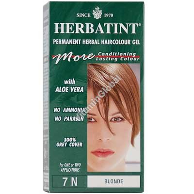 Permanent Herbal Haircolour Gel Blonde 7N - Herbatint