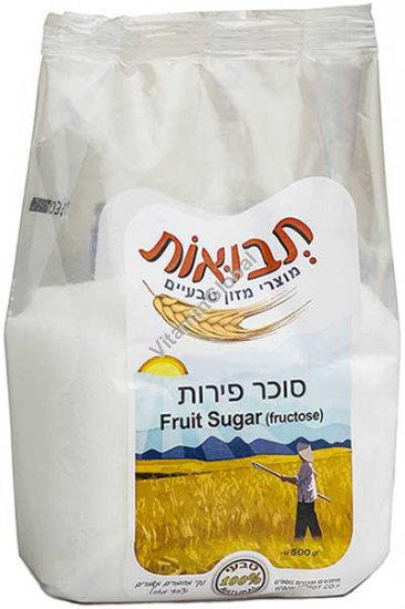 Натуральный фруктовый сахар (фруктоза) 500 гр - Tvuot