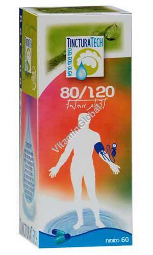 Kosher Badatz Hypertension 80/120 Formula 60 capsules - Tinctura Tech