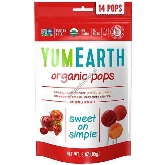 סוכריות פירות אורגניות על מקל 14 יח - יוממי