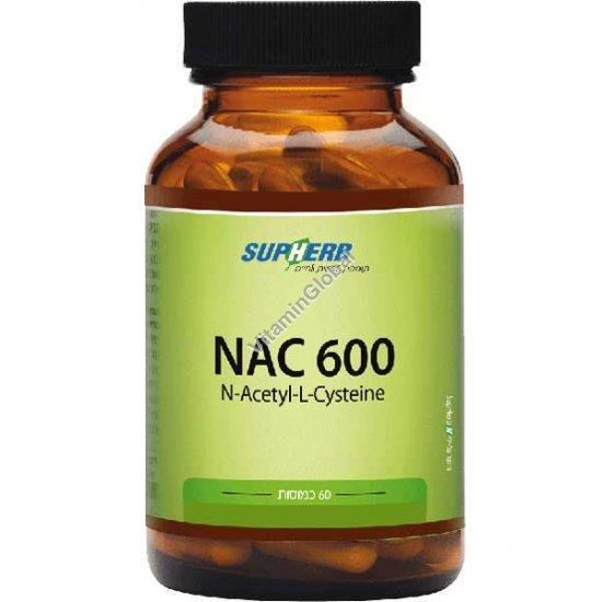 NAC 600 mg (N-Acetyl-L-Cysteine) 60 capsules - SupHerb