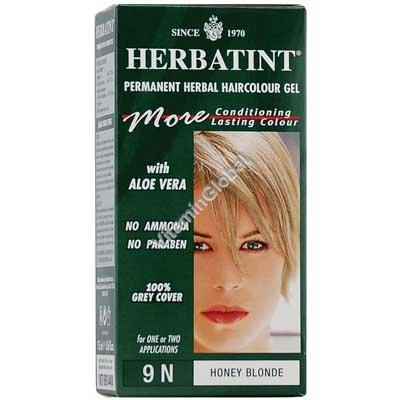 Краска для волос медовый блонд 9N - Гербатинт