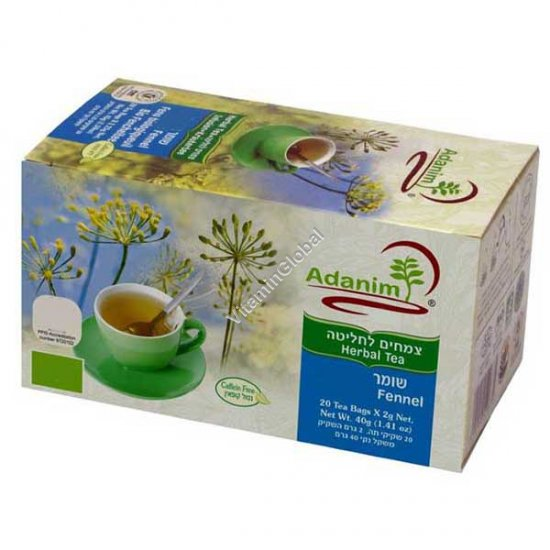 Fennel Herbal Tea 20 tea bags - Adanim