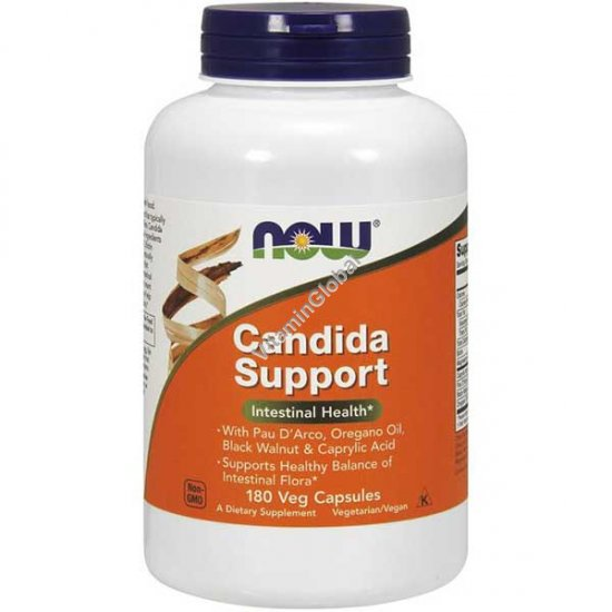 Candida Support 180 Veg Capsules - Now Foods