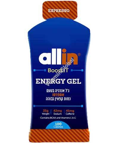 Energy Gel Espresso (41mg Caffeine) 35g - Allin