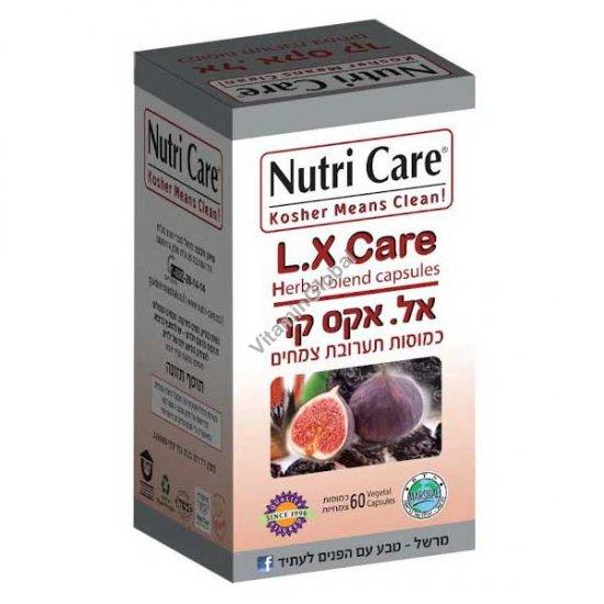 L.X Laxi Care натуральное слабительное 60 капсул - Nutri Care
