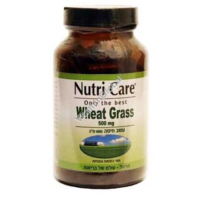Wheat Grass 500 mg 100 capsules - Nutri Care