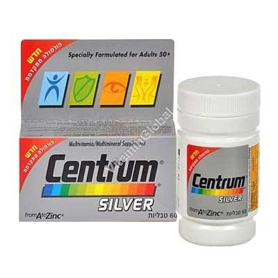 צנטרום סילבר - מולטיויטמין לבני 50 ומעלה 60 טבליות