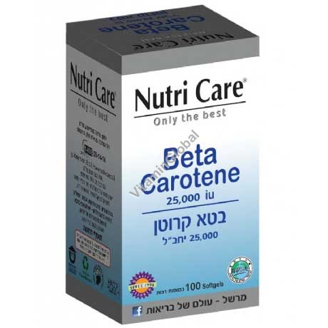 Beta Carotene 25000 IU 100 softgels - Nutri Care