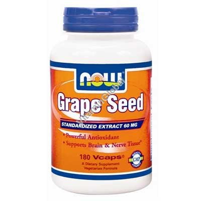 Grape Seed Extract 60 mg 180 caps - NOW Foods