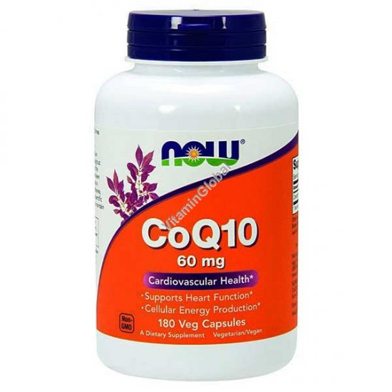 Coenzyme Q10 60 mg 180 Vcaps - NOW Foods