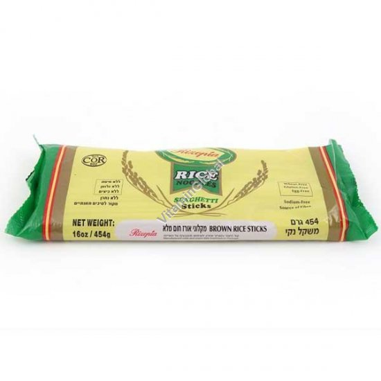 Спагетти тонкие из цельного риса 454 гр - Ризопия