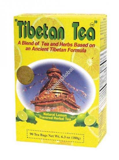 Тибетский чай со вкусом лимона 90 фильтр-пакетиков - Oriental Secrets