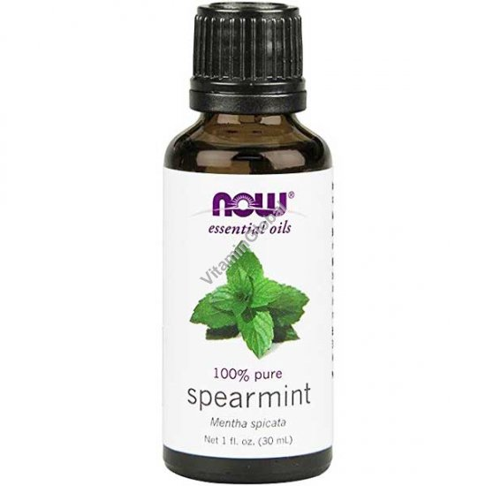 Spearmint Oil, 100% Pure, 30ml (1 fl. oz.) - Now Essential Oils