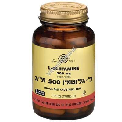 """ל-גלוטמין 500 מ""""ג 50 כמוסות - סולגאר"""