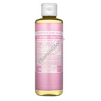 """סבון טבעי נוזלי פריחת הדובדבן 472 מ""""ל - ד""""ר ברונר"""