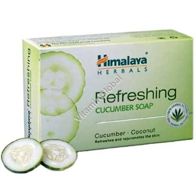 Refreshing Cucumber Soap for oily skin 70g - Himalaya Herbals