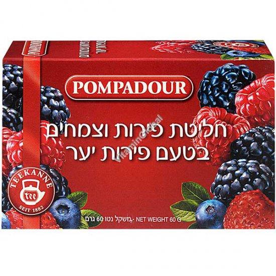 חליטת פירות וצמחים בטעם פירות יער 20 שקיקים - פומפדור