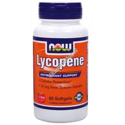 Ликопен 10 мг 60 мягких капсул - Now Foods