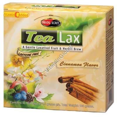 Tea Lax Cinnamon Flavor 40 Tea Bags - Oriental Secrets