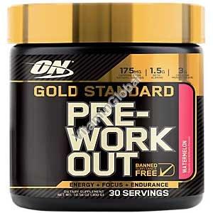 גולד סטאנדרט Pre-Workout - פורמולה לפני אימון בטעם אבטיח 300 גרם - אופטימום נוטרישן