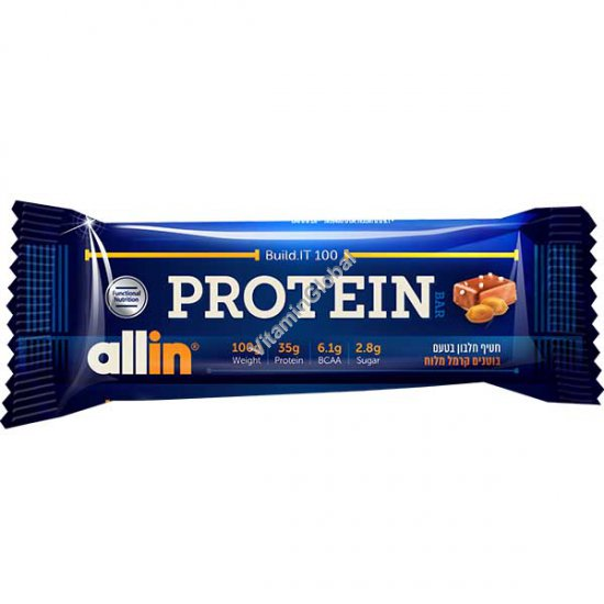 Protein Bar Peanuts Salted Caramel 100g - Allin