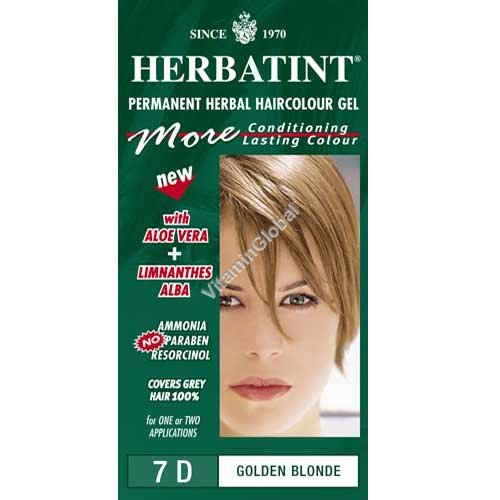 Permanent Haircolour Golden Blonde 7D - Herbatint