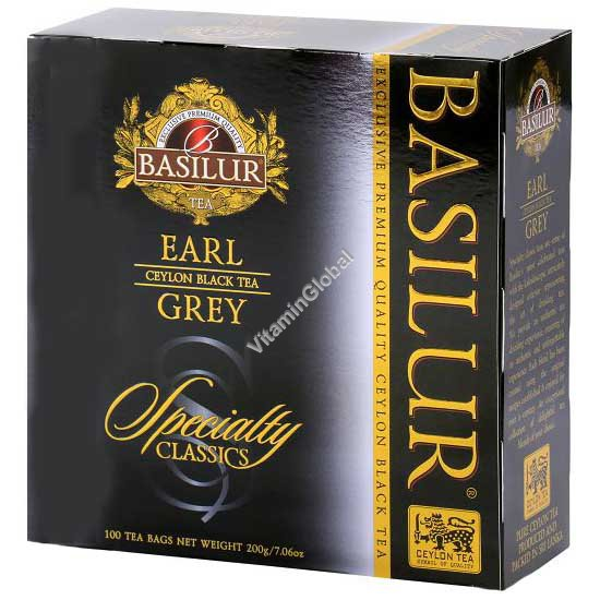 Earl Grey Ceylon Black Tea 100 tea bags - Basilur