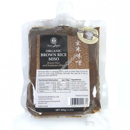 Organic Brown Rice Genmai Miso 345g (12.2 oz) - Muso From Japan