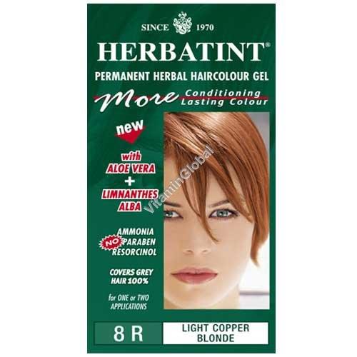 צבע לשיער גוון נחושת בלונד בהיר (8R) - הרבטינט