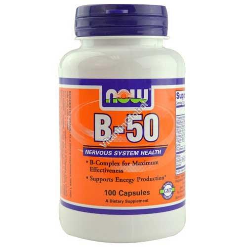 ויטמין בי-50 קומפלקס 100 כמוסות - נאו פודס