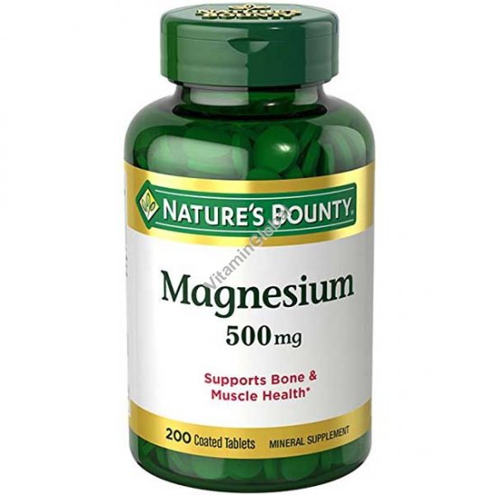 Magnesium 500mg 200 tablets - Nature\'s Bounty