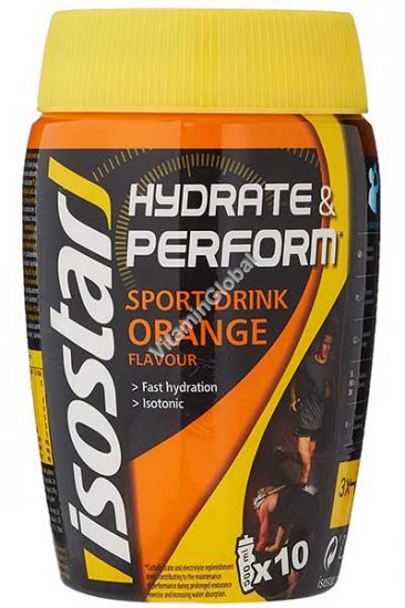 Hydrate & Perform Sport Drink Orange Flavour 400g - IsoStar
