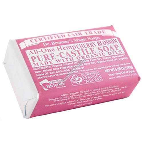 """סבון טבעי פריחת הדובדבן 140 גרם - ד""""ר ברונר"""