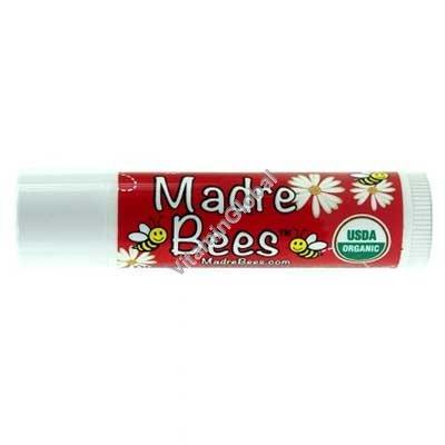 Organic Pomegranate Lip Balm 4.25g - Madre Bees