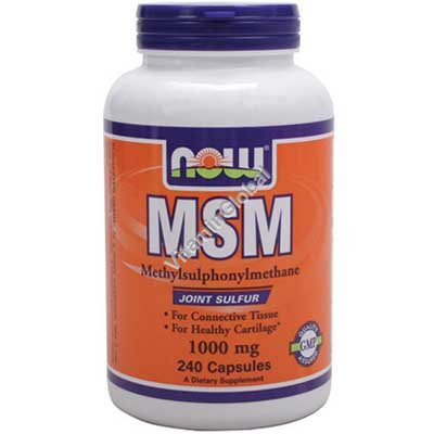 MSM 1000 mg 240 caps - Now Foods