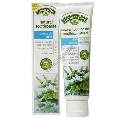 Растительная зубная мятная паста 170 гр - Nature\'s Gate