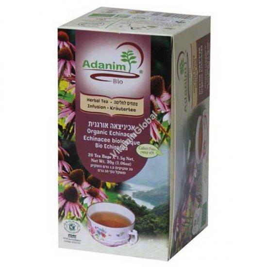 תה אכיניצאה אורגנית 20 שקיקים - עדנים