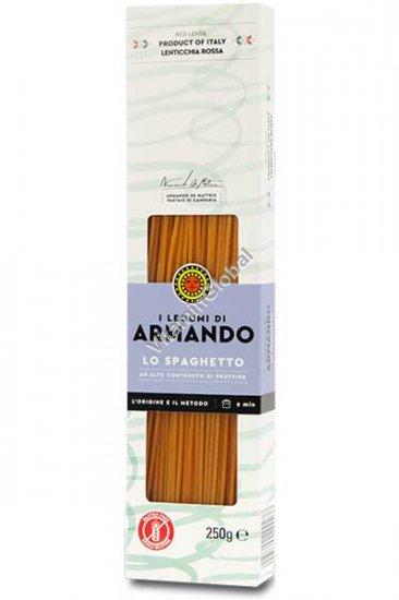 Безглютеновые спагетти из красной чечевицы 250 гр - Armando
