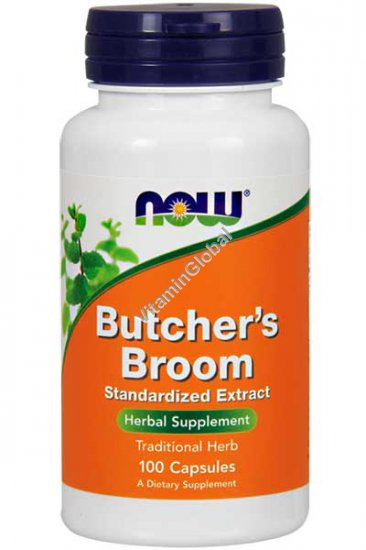 Butcher\'s Broom Standardized Extract 100 capsules - Now Foods