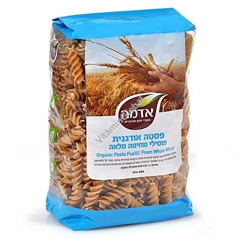 Organic Whole Wheat Fusilli 500g - Adama